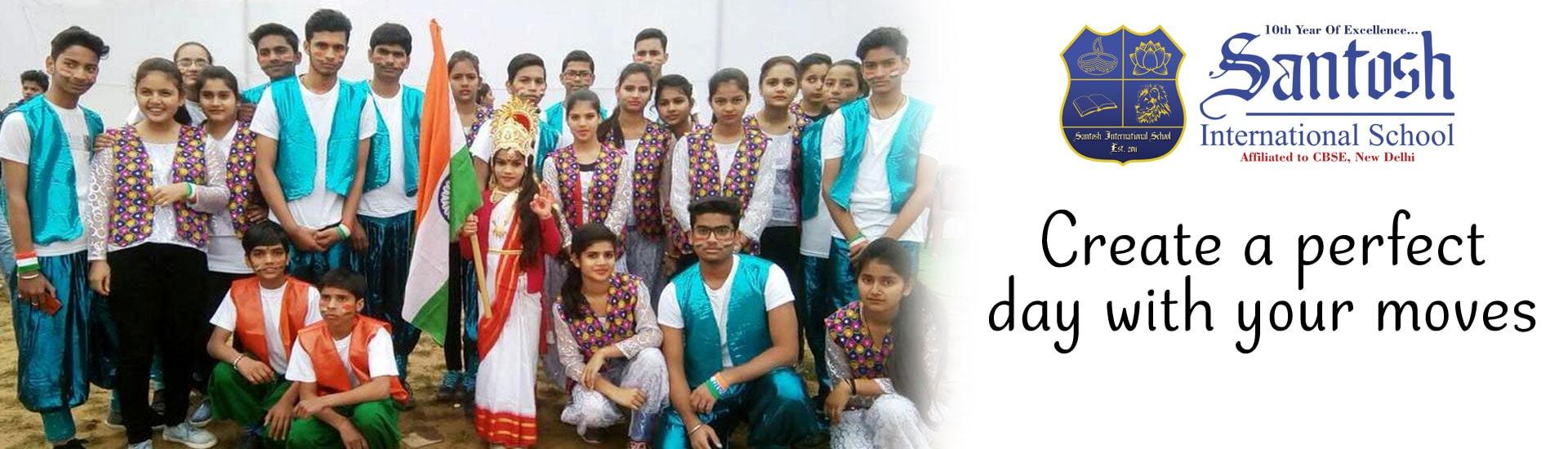 santosh international school function